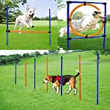 MelkTemn Dog Agility Set, Profi Hundetrainigsset Agility 3 Übungen Hund für Agility - Hundetraining,Hund Agility...