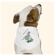 Geschenktipp Bandana für Hunde eigenes Design